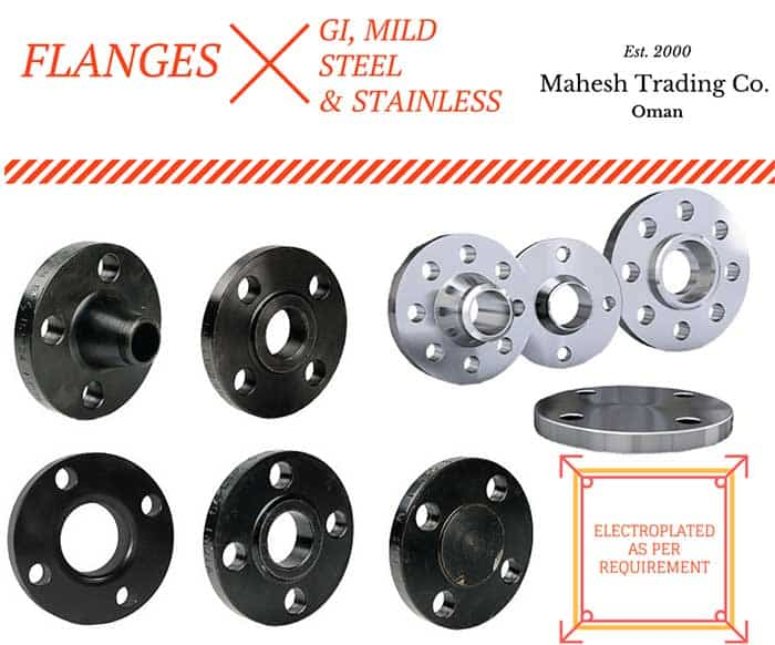 Flanges in GI And Mild Steel for Oilfield in Muscat, Oman.