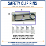 Safety clip pins, MTC pins