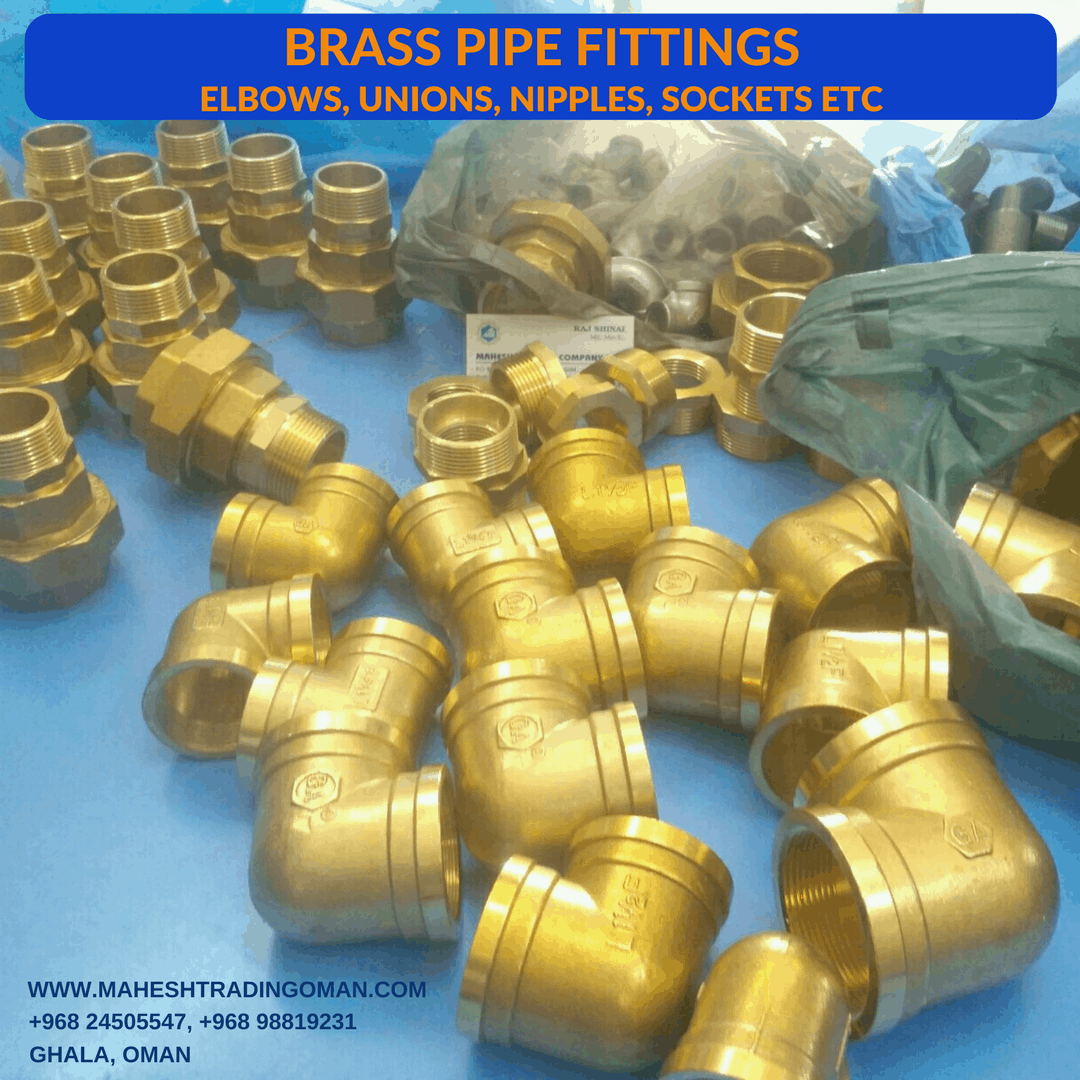 Brass fittings, elbows, unions, brass nipple, brass socket