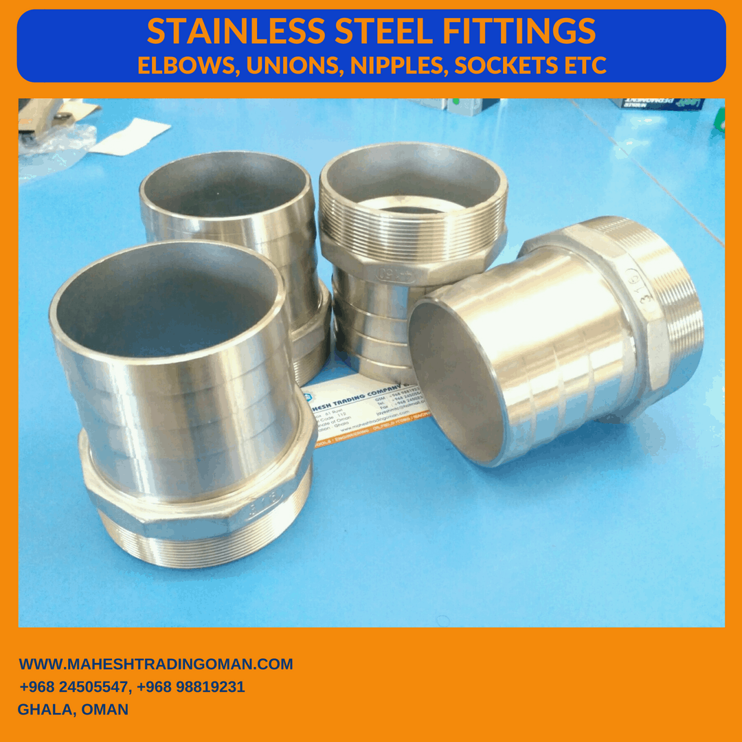 Stainless Steel fittings in Oman. Mahesh Trading Oman.