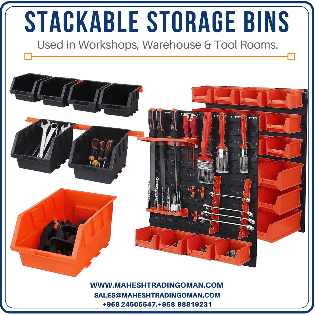 Storage bins Oman, stackable bins, bins