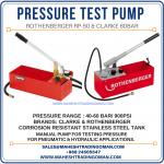 Pressure testing pump, Oman
