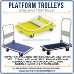 Medium and heavy duty platform trolley available at Oman